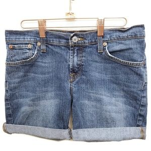 Lucky Brand  Mid Rise Flare Jean Shorts